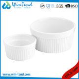 Tazón de fuente blanco comercial al por mayor del soplo del Ramekin de la hornada de la porcelana