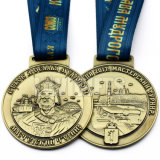 熱い販売の高いQuanlityの方法カスタム形の専門の旧式な青銅によって刻まれるロゴの金属メダル