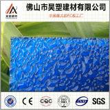 중국 공장 직접 파란 폴리탄산염 건축재료를 위한 다이아몬드에 의하여 돋을새김되는 장 PC 장