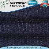 Tissu tricoté teint de gaufre de denim de fils de coton 100