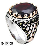 Il bianco d'argento & Rosa dell'anello dell'anello 925 degli uomini due colori hanno placcato