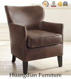 Poltrona de couro cinzenta da cadeira do acento da mobília moderna da sala de visitas (HD532)