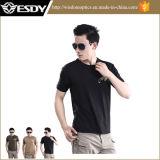 Camiseta redonda del collar de la funda corta de nylon del verano de Esdy de la manera