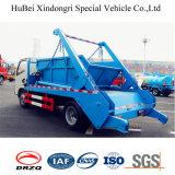 carro de basura automático del cargamento del contenedor de Wastebin del salto del brazo del oscilación de 1.5ton Dongfeng