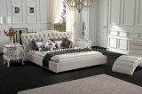 イタリアの熱い販売の本革のベッド(SBT-5817)