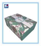 Caja de almacenamiento de regalo de papel personalizado con la manija de la Seda