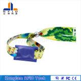 Wristband trenzado de seda de alta frecuencia de la pantalla RFID para almacenar