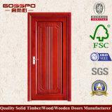 Porta de sala de folheado de MDF de design linear (GSP8-011)