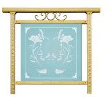 Klassischer Art-Edelstahl-Zaun mit ausgeglichenem Glas