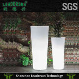 Plantador al aire libre ligero de la maceta de la decoración del jardín de interior del LED (LDX-F02)