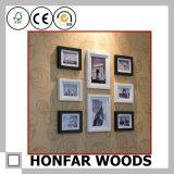 Frame de retrato de madeira contratante do retângulo preto para o presente relativo à promoção