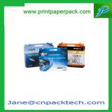 Het Verpakkende Vakje van het ZuivelProduct van de Banketbakkerij van de Gift van de Geveltop van het Document van de Kunst van de douane