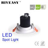 5W正方形のAliuminumの穂軸白いLED Downlight LEDの照明LEDスポットライト
