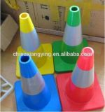 Cono colorato riflettente di traffico del PVC mini