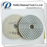 유연한 젖은 건조한 다이아몬드 닦는 패드를 가는 화강암 대리석 콘크리트