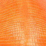 Couro de sapata sintético personalizado da bolsa do PVC do plutônio de Rexine do crocodilo da cor
