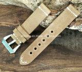 Bracelete de relógio de couro genuíno grosso para Big Sport Watch