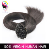 Extensões do cabelo humano da ponta do prego U de Remy da queratina