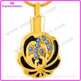 De Tegenhangers van de Halsbanden van de Urn van de Juwelen van de Crematie van Mujer van Bisuteria voor de Vorm van de Bloem van de As met Kristallen