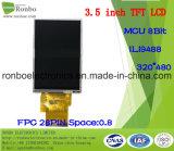 """3.5 """" écran de TFT LCD de 320X480 MCU, Ili9488, 28pin pour la position, sonnette, médicale"""