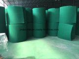 Крен соскабливая пусковой площадки полиэфира зеленого цвета предложения изготовления соскабливая пусковой площадки