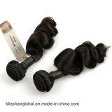 Brasilianisches Jungfrau-Haar-Sprung-Wellen-Schwarz-Farben-Menschenhaar-Glücks-Haar