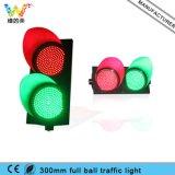 300mm 빨간 황록색 도로 교차점 교통 신호 빛