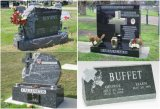 European Customized Carving Granite Cross Monument / Headstone / Tombstone