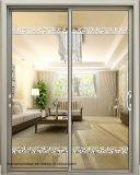 Precio de aluminio de la puerta del arco del vidrio de desplazamiento del nuevo diseño