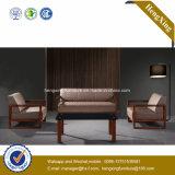 Sofa moderne de bureau de divan de cuir véritable de meubles de bureau (HX-CF008)