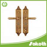 Maniglia di portello del nuovo zinco di disegno di alta qualità grande con le serrature di lusso delle ville del piatto