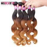 Capelli umani brasiliani di colore di Omber dei capelli umani di 100%