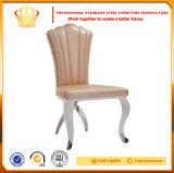 스테인리스 프레임 연회 식당 의자 호텔 호화스러운 식사 의자