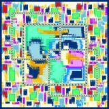Изготовленный на заказ шарфы печатание 100% цифров Silk (F13-DP-0008)