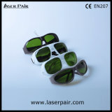 El marco simple blanco 52 de los anteojos de seguridad de los vidrios de la protección del IPL para el IPL trabaja a máquina 200-1400nm