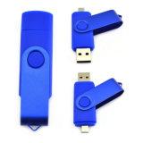 Изготовленный на заказ привод вспышки USB шарнирного соединения логоса OTG 256GB для подарка