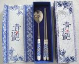 Комплект Cutlery нержавеющей стали ручки качества еды керамический
