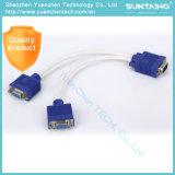 Mâle d'OEM 15pins au câble mâle du VGA pour l'ordinateur