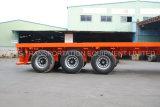 40feet 3axle Flachbett/Platfrom Behälter-schwerer LKW-Flachbettdienstbecken-Wohnmobil-Kipper-Ladung/gekühlter halb Schlussteil (einzelner Reifen)