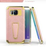Caixa híbrida do telefone móvel de Kickstand para o caso da borda de Samsung S7