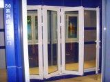 Le son et imperméabilisent 60 le profil d'extrusion de la série Co de tissu pour rideaux pour la porte se pliante de glissière