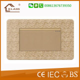 황금 모자이크 색깔을%s 가진 가정 전기 6개의 Pin 벽면 소켓