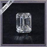 2.0 Carat precio asequible Fábrica al por mayor esmeralda corte blanco Moissanite diamante para joyería