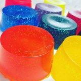 Sabão de gelatina de banho, gelatina de banho de bolha de corpo vegano artesanal