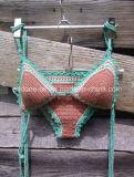 Vêtements de bain fabriqués à la main de maillot de bain de bikini de crochet de main de Halter d'OEM Boho