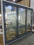 Porta de vidro Bi-Fold de alumínio/indicador de dobramento