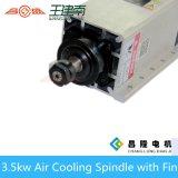 Электрическим мотор охлаженный воздухом шпинделя 3.5kw 18000rpm с устанавливать фланец для машины маршрутизатора CNC деревянной гравировки