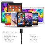 Sechs Farben-Hanf, der Charger&Transfer Daten-Kabel für androides Kabel strickt