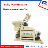 Mélangeur concret de double arbre de M3/H de la capacité de fabrication de poulie grand 50 à 90 (JS500-JS1500)