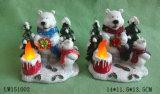 Ornamento del arte del sostenedor de vela de Navidad